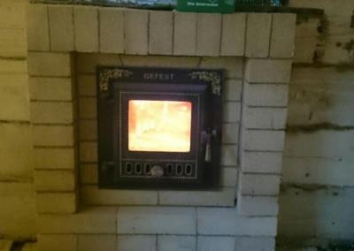 Дровнино банная печь Гефест ПБ 04 в облицовке Оптима